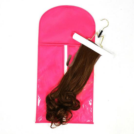 Dust Proof Protective Bag With Hanger For Hair Weft & Clip-in Extensions Storage Wholesale