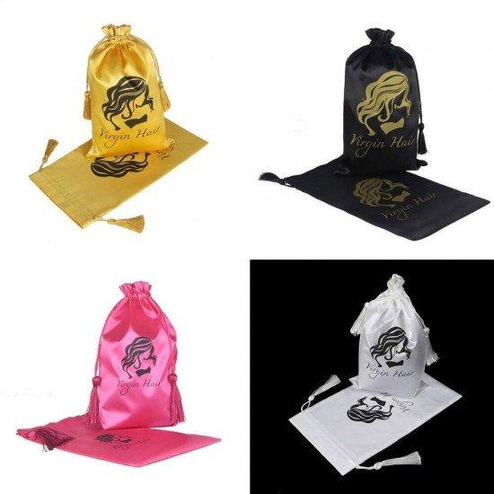 Customize Silk Satin Hair Packing Bags