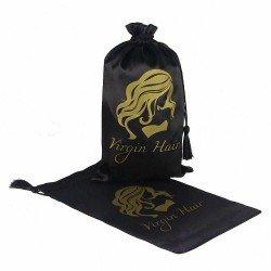 100pcs Customize Silk Satin Hair Packing Bags