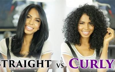 Straight Hair VS Curly Hair