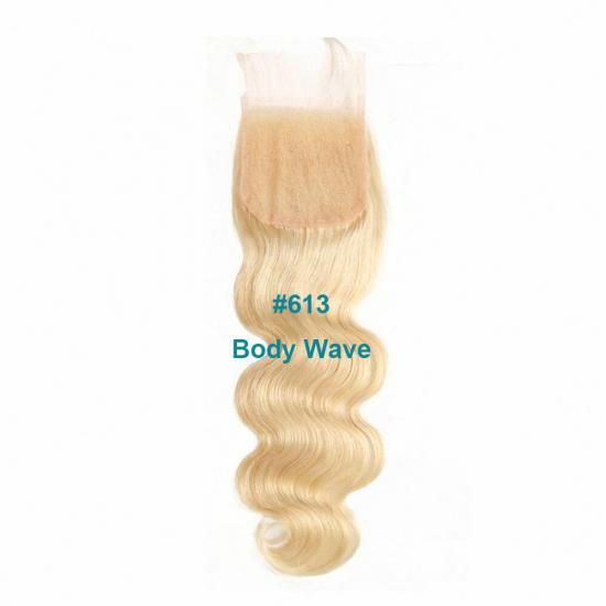 Affordable Virgin Remy Blonde #613 & #1B613 4x4 Lace Closure Wholesale
