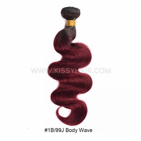 Affordable Virgin Remy Ombre Colored Hair Weave Wholesale