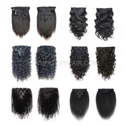 9A Clip-in Human Hair Extensions