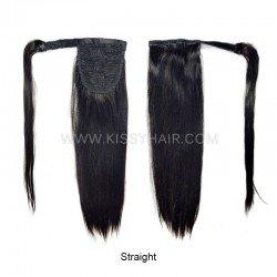9A Magic Paste Wrap Around Ponytail Human Hair Extensions