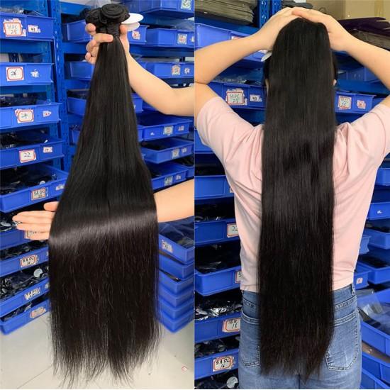 Long Virgin Remy Hair Bundles 32-40 inch